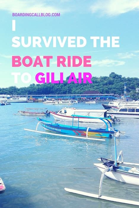boat gili air to bali i survived the boat ride from bali to gili air and all i