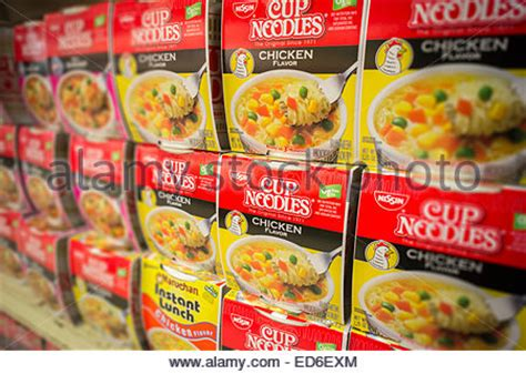 Shelf Of Noodles by Shelf Of Instant Noodles In An Supermarket Stock