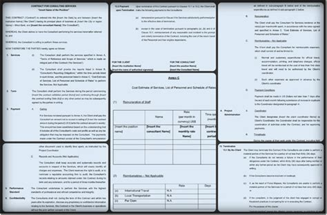 Consultant Contract Template 6 Free Sles In Pdf Word Simple Consulting Template