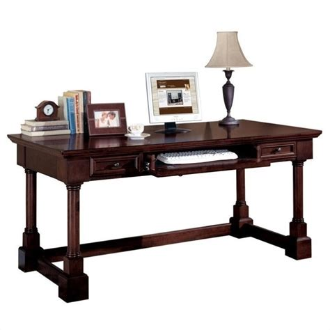 Kathy Ireland Home By Martin Mount View Wood Writing Desk Cherry Laptop Desk