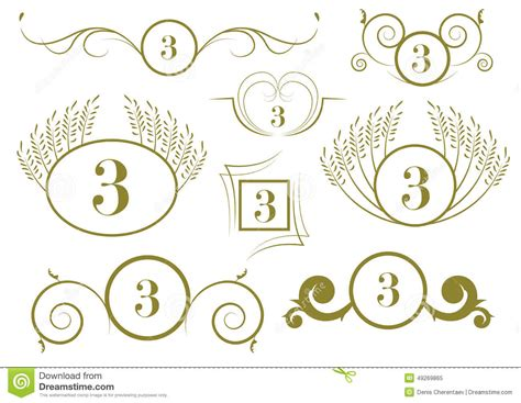 page design elements vector set of vintage calligraphic design elements and vector