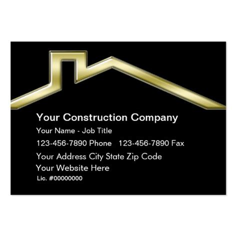 Commercial Construction Business Cards Templates Free by Construction Business Cards