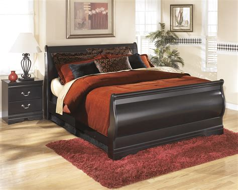 black sleigh bed queen huey vineyard black queen sleigh bed by ashley ebay