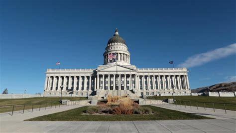 Garden State Capital Utah State Capital Building Across Lawn Fast Utah State