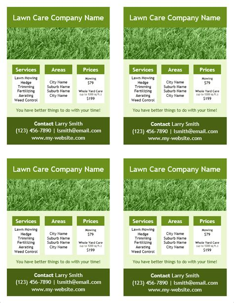 free lawn care flyer templates projects to try pinterest lawn