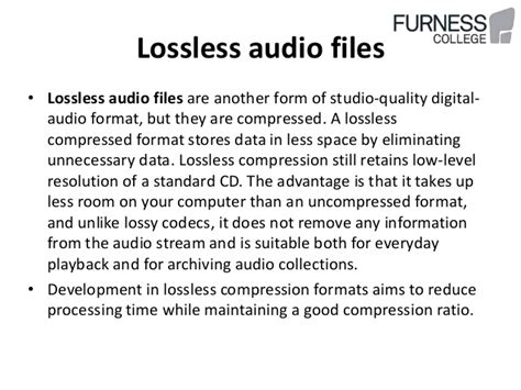 format audio lossless uncompressed lossless lossy audio