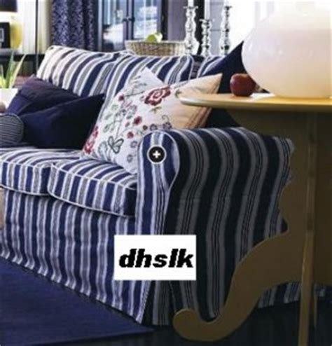blue and white striped slipcovers new ikea ektorp sofa bed slipcover cover toftaholm blue