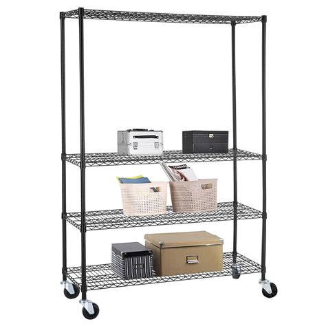 commercial metal shelving 4 tier commercial 46 x82 x18 wire shelving rack