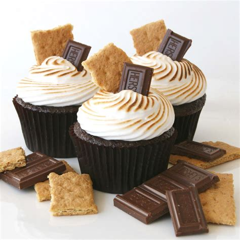 cupcake recipe chocolate s mores cupcakes recipe glorious treats