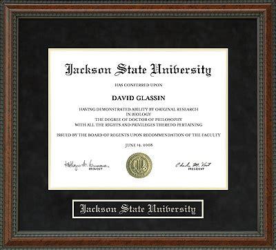 jackson state university jsu diploma frame everything