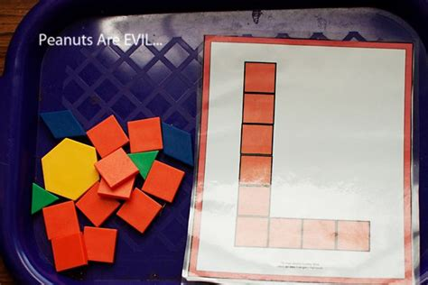 pattern block trays 17 best images about pre k pattern blocks on pinterest