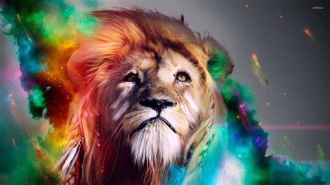 imagenes de leones en movimiento 3d lion art wallpaper wallpapersafari