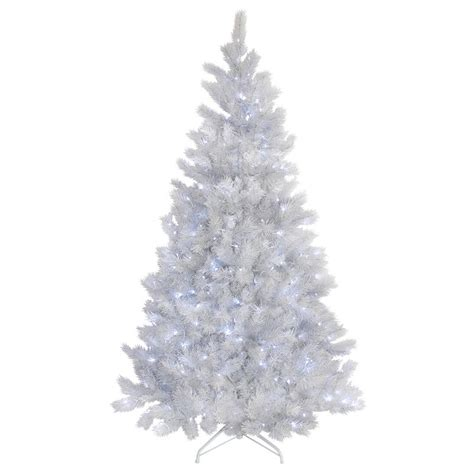 white glitter christmas tree pre lit bright white lights