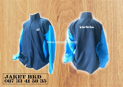 desain jaket biru dongker contoh desain jaket bkd mikro konveksi surabaya kaos