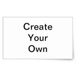 Create Your Own Create Your Own Custom Graffiti Gifts Rectangular Sticker