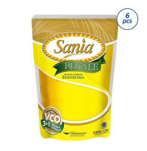 Sania Minyak Goreng Pouch jual sania royale minyak goreng 2000 ml 6 pouch