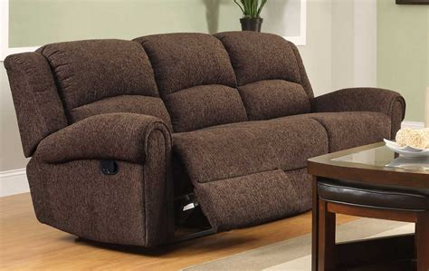 recliner couch homelegance esther reclining sofa set dark brown