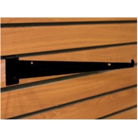 Slatwall Shelf Brackets 12 by 12 Inch Black Slatwall Shelf Bracket