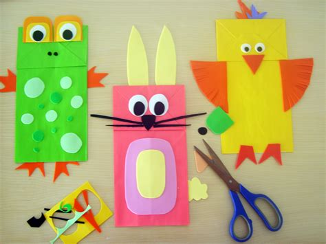crafts with paper bags animal crafts puppets