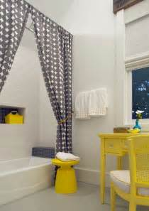 Yellow Gray And White Bathroom » New Home Design