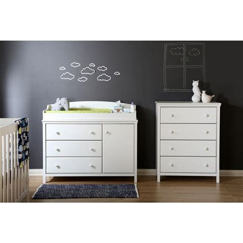 South Shore Cotton Candy 3 Drawer Pure White Changing South Shore Collection Changing Table White