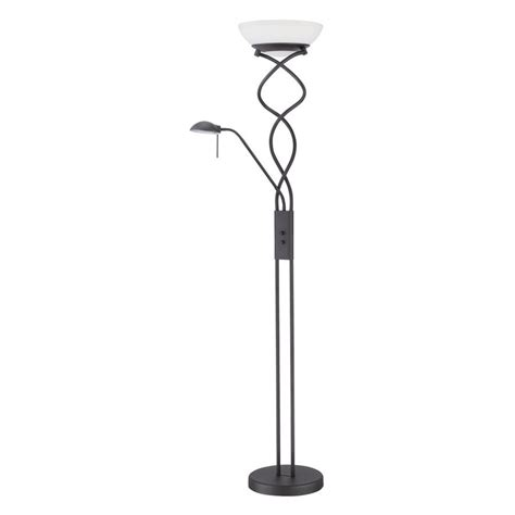 Torchiere L With Reading Light by Shop Kendal Lighting 72 In Black Torchiere With Reading