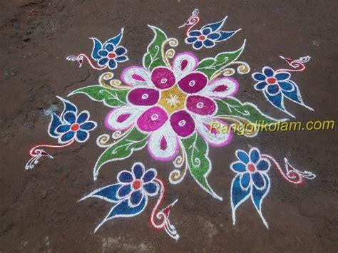 new design flower kolam with dots step by step kolam rangoli kolam