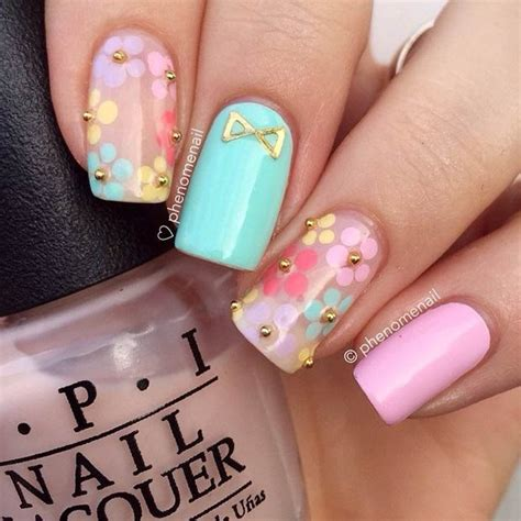 spring pattern nails 50 flower nail designs for spring flower nail designs