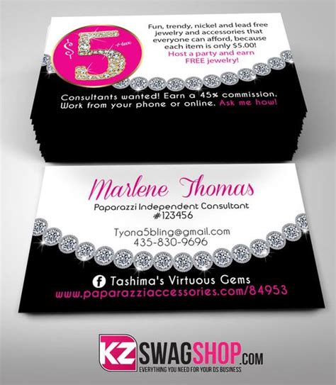 partylite business card template 5 bling jewelry business cards style 12 kz swag shop