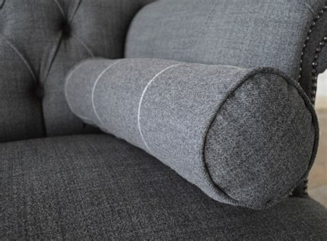 Chesterfield Sofa Cushions Plain Wool Bolster Cushions Abode Sofas