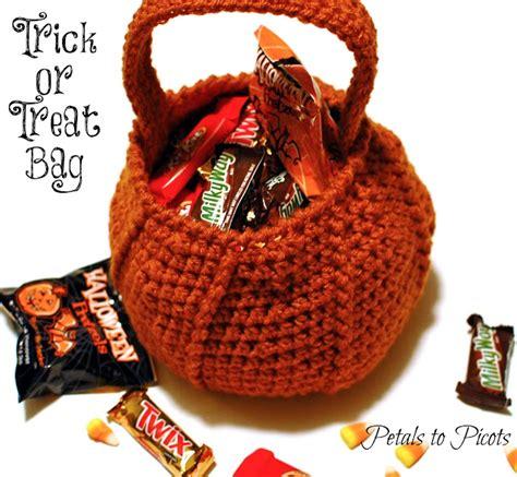 crochet pattern halloween bag halloween pumpkin trick or treat bag crochet pattern