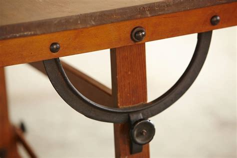Antique Industrial American Oak Drafting Table At 1stdibs Vintage Drafting Table Hardware