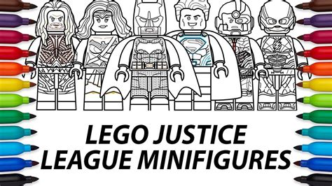Bootleg Lego Justice League Flash how to draw lego dc comics justice league minifigures compilation