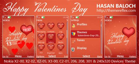 nokia themes valentines day happy valentine s day theme for nokia series 40 devices