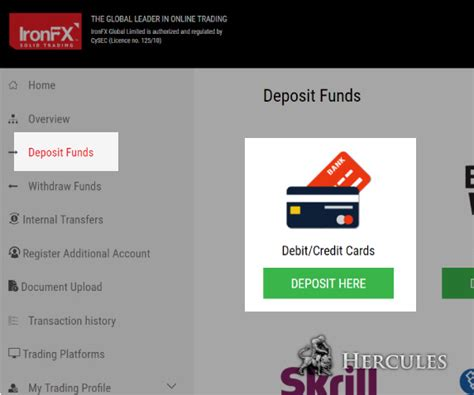 can you make withdrawals with a credit card ironfx uk how can i make deposit to ironfx mt4 account
