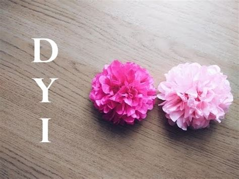 How To Make Tiny Tissue Paper Flowers - diy tissue paper flower tutorial simple and easy