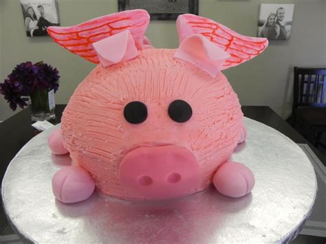 Pig Anniversary Cakeq flying pig birthday cake birthdays and special occasions