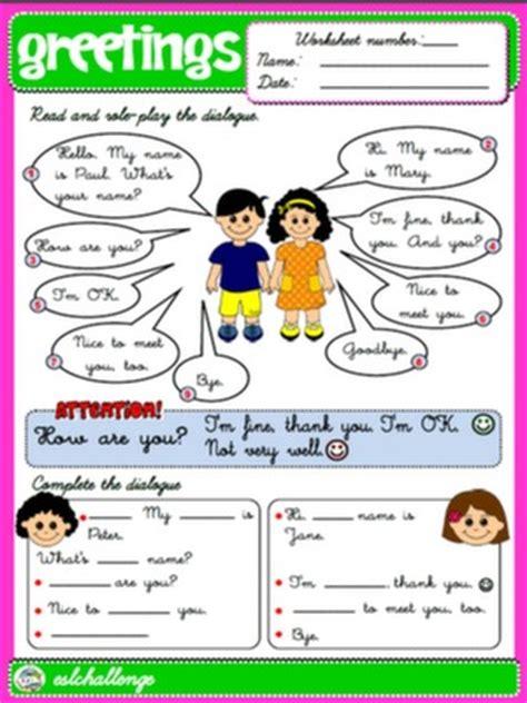 greetings in worksheet step by step 3rd graders teach step by step