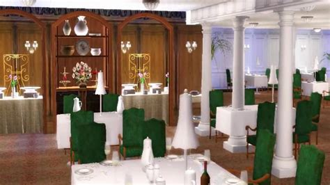titanic dining room first class dining room d deck titanic sims youtube