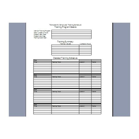 employee training plan template excel business letter