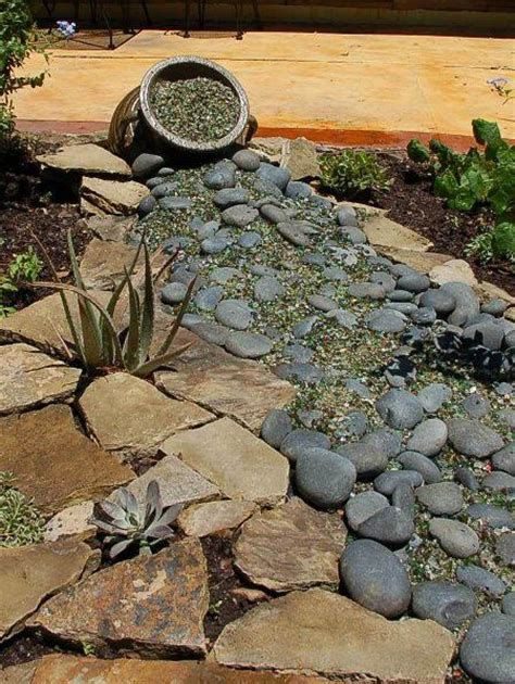 Pebbles And Rocks Garden Home Dzine Garden Ideas Pebble And Rock River Bed For Garden Drainage