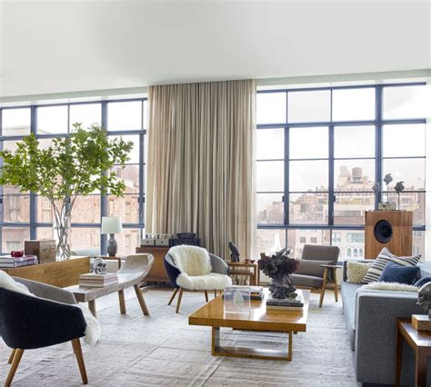 loft living room tribeca citizen loft peeping ku ling evan yurman