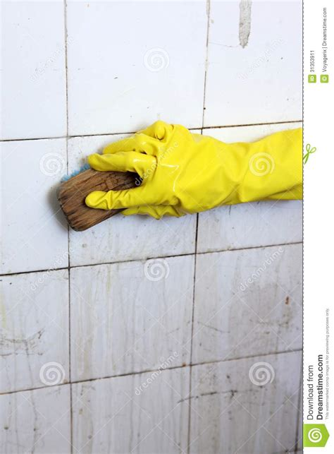 cleaning dirty bathroom tiles cleaning of dirty old tiles in a bathroom stock image image 31353911