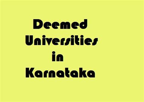 List Of Mba Colleges In Karnataka by Deemed Universities In Karnataka Govt Info