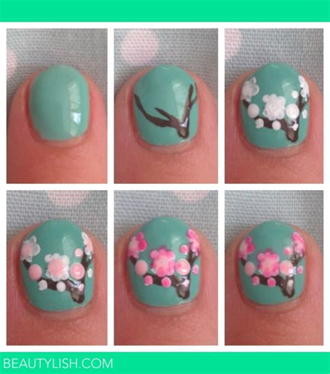 easy nail art tutorial step by step nail art step by step kirstie c s photo beautylish