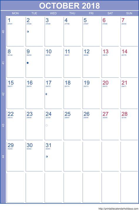 printable calendar 2018 october october 2018 printable calendar calendar 2017 printable