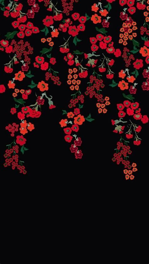 floral pattern background hd best 25 red flower wallpaper ideas on pinterest iphone
