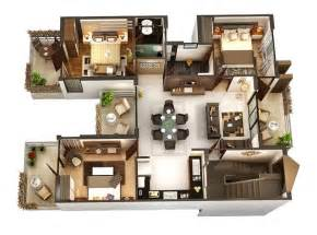 50 three 3 bedroom apartment house plans house plans