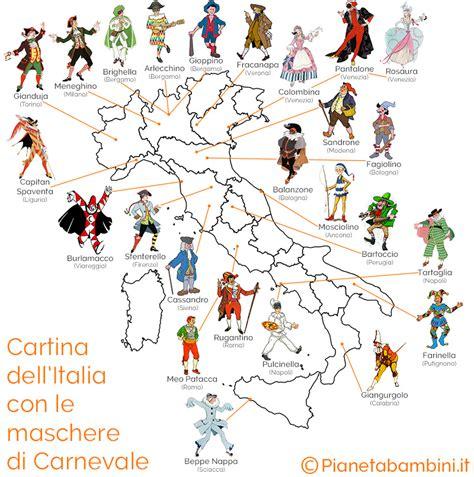 tutte le di tutte le maschere di carnevale italiane storia e immagini