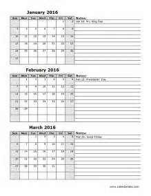 2015 Calendar Spreadsheet 2016 Excel Calendar Quarterly Spreadsheet Free Printable